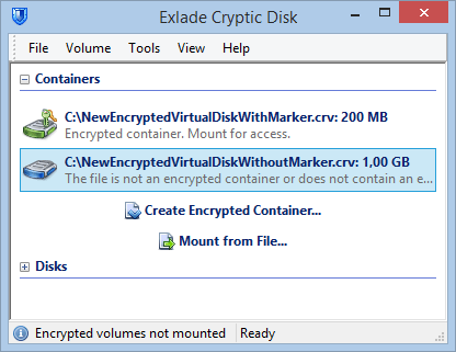 Click to view Cryptic Disk screenshots
