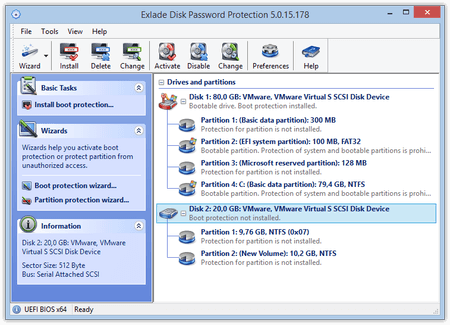 Disk Password Protection Screen shot
