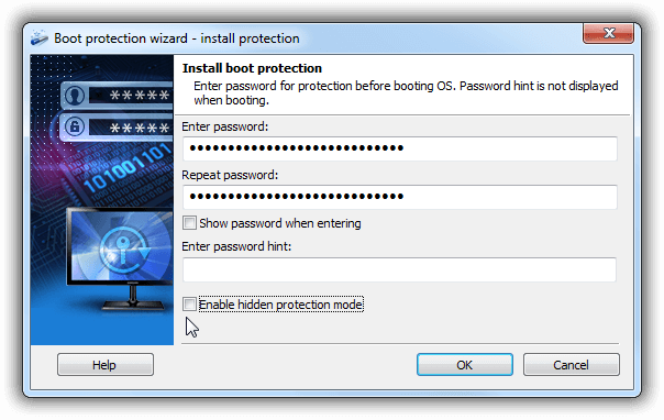 Exlade Disk Password Protection